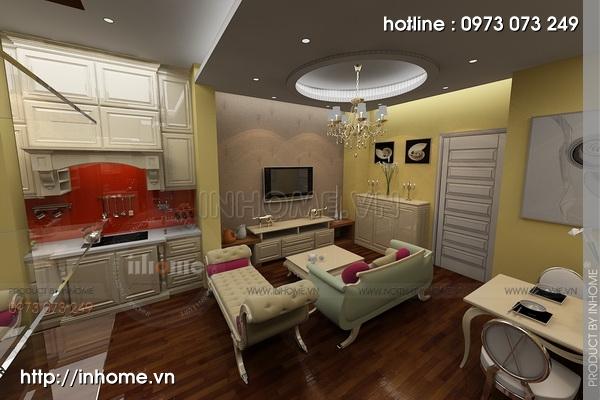 Thiết kế nội thất chung cư Trung Yên