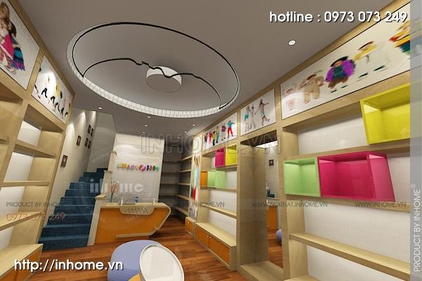 Thiết kế cửa hàng thời trang trẻ em 01