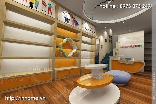 Thiết kế cửa hàng thời trang trẻ em 02