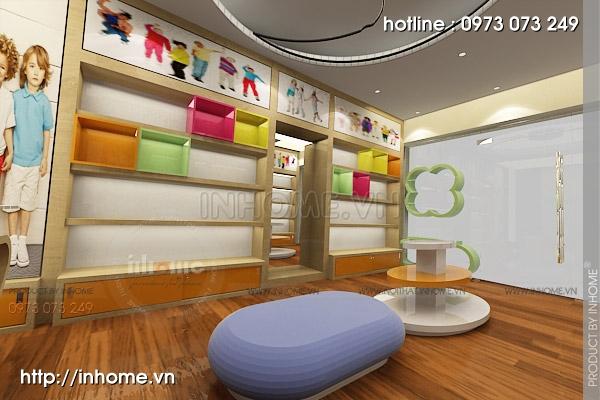 Thiết kế cửa hàng thời trang trẻ em 07