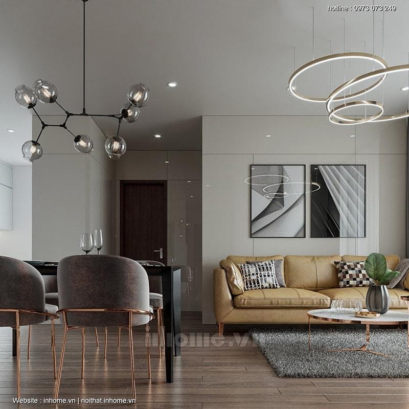 Mẫu thiết kế nội thất chung cư An Bình City đầy mê hoặc
