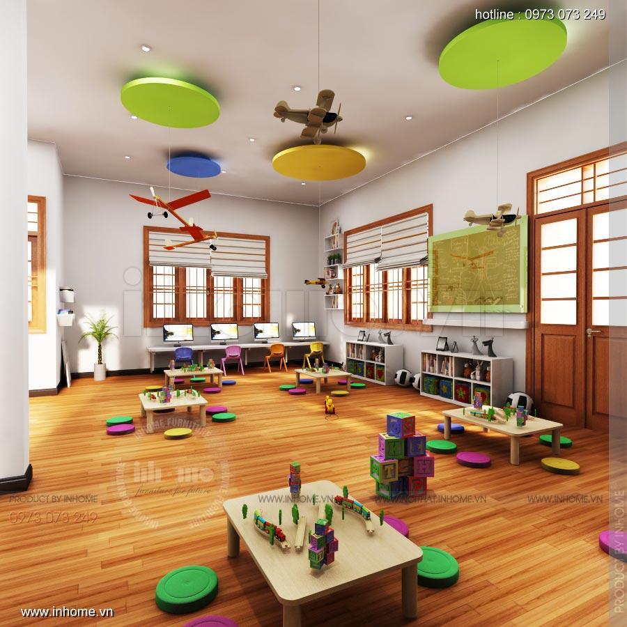 Thiết kế nội thất trường mầm non Ngôi Sao - TP Nam Định 13