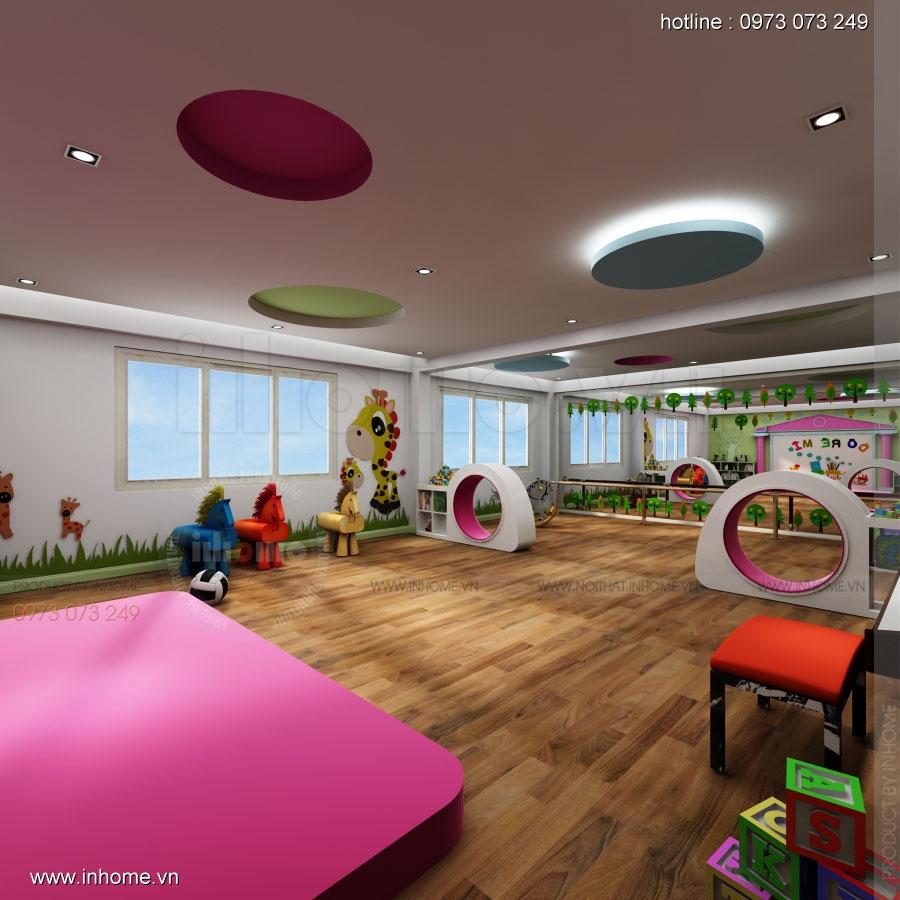 Thiết kế nội thất trường mầm non Asean 01