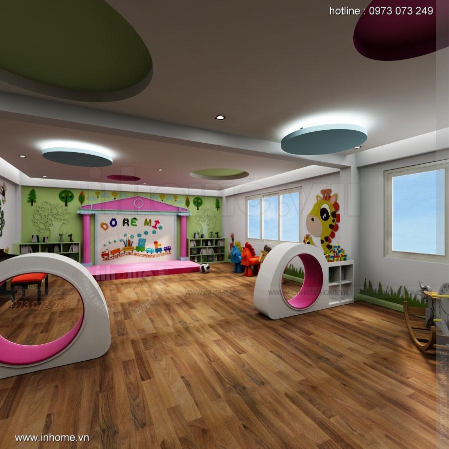 Thiết kế nội thất trường mầm non Asean 03