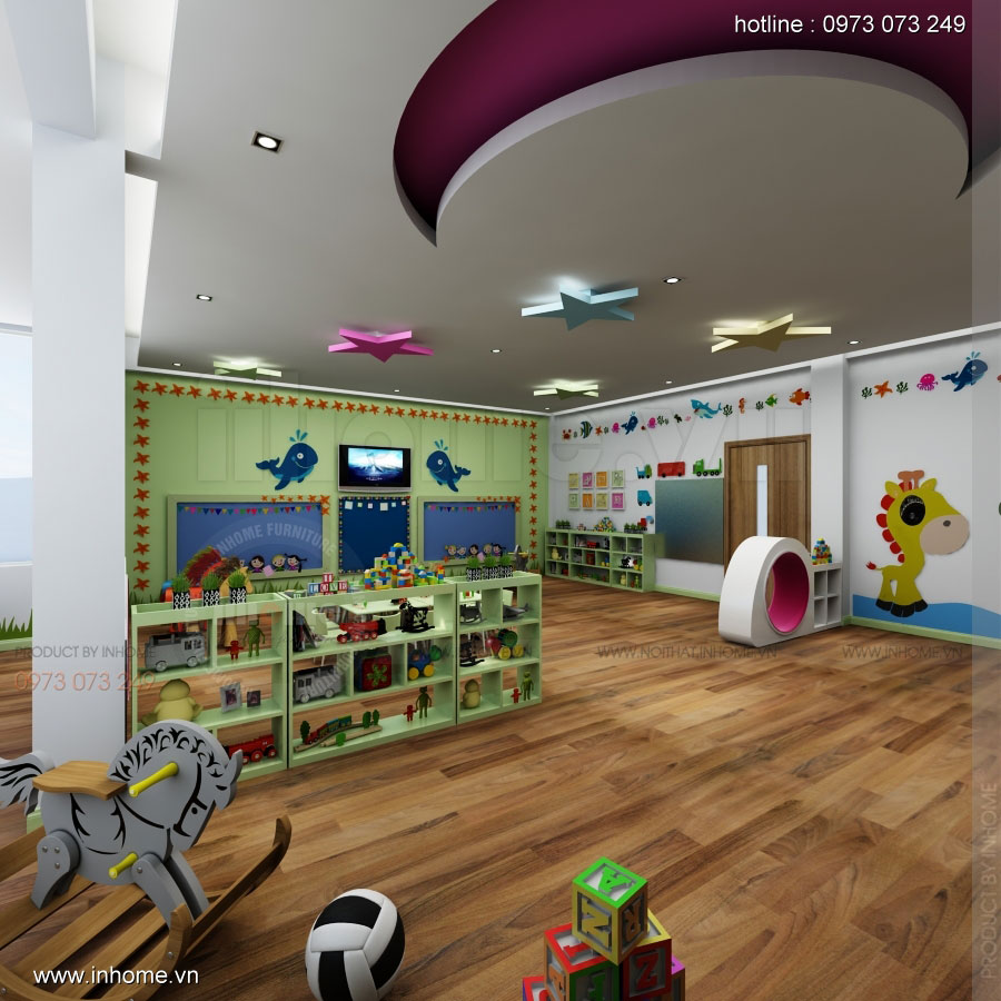 Thiết kế nội thất trường mầm non Asean 08