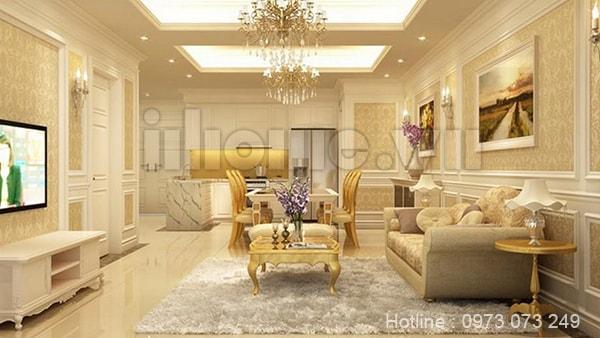 Thiết kế nội thất nhà chung cư theo phong cách cổ điển
