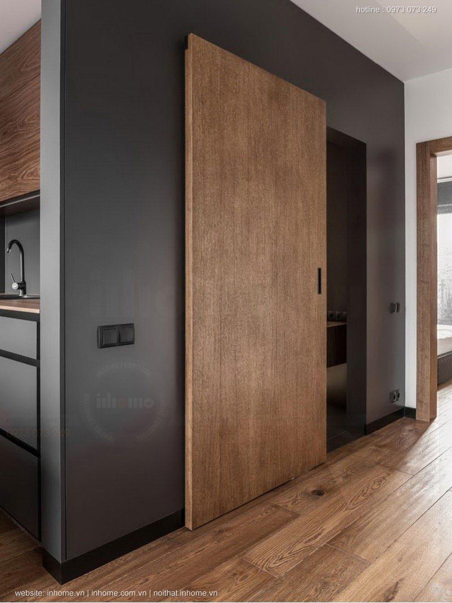 Căn nhà sang trọng hiện đại chỉ với gỗ và màu đen huyền bí