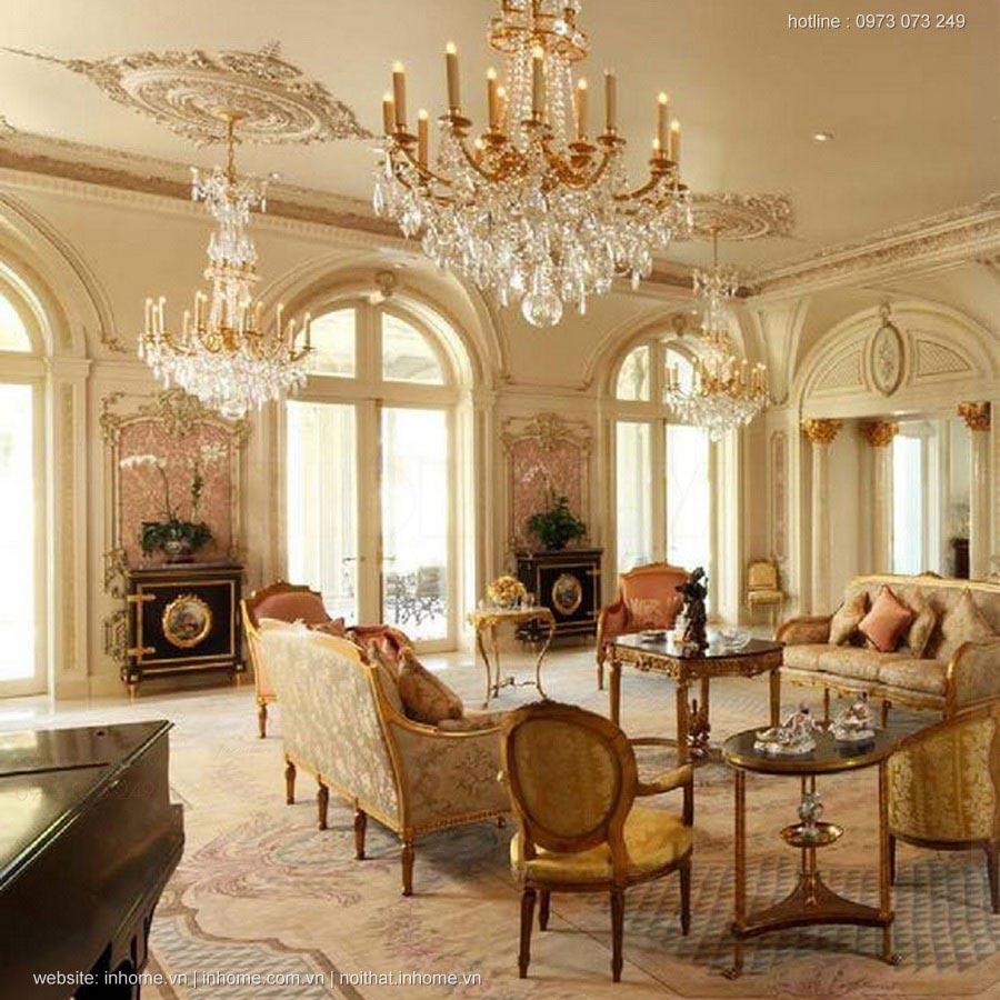 Thiết kế nội thất biệt thự cổ điển kiểu Pháp