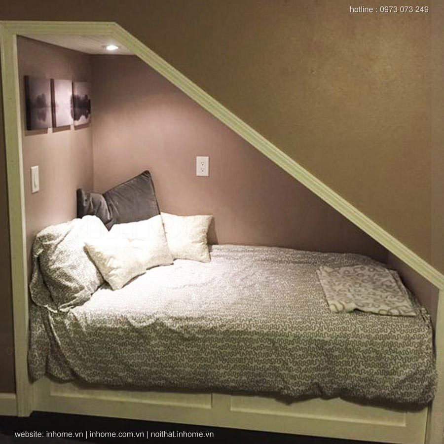 Giường ngủ dưới gầm cầu thang