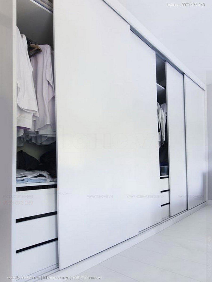 Tiết kiệm không gian với tủ quần áo cánh lùa