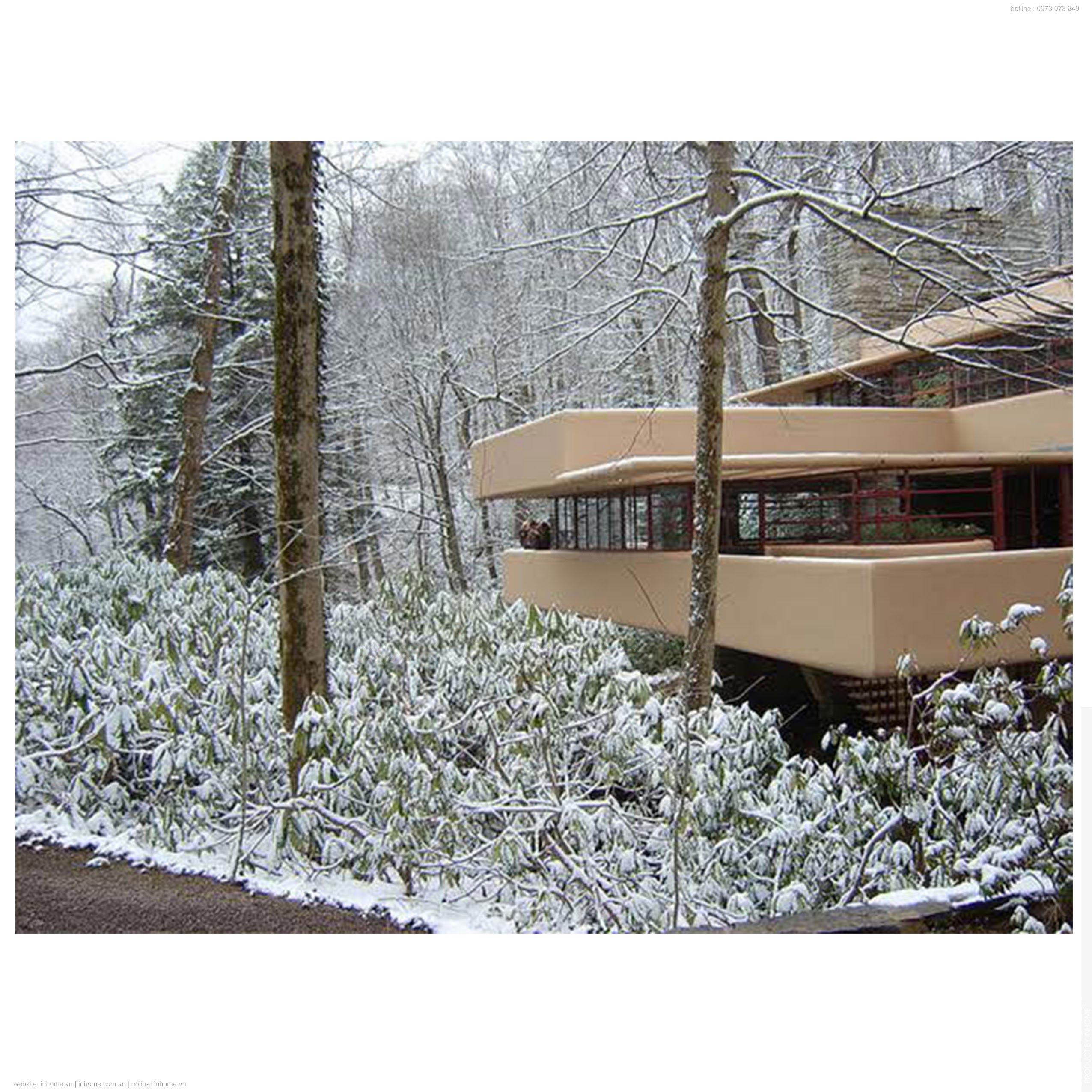 Sáng tạo thác nước của Frank Lloyd Wright trong thiết kế