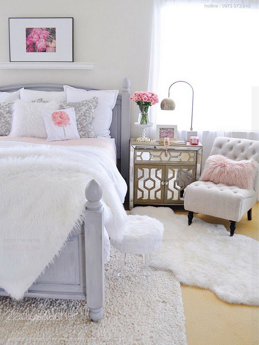 Ý tưởng thiết kế phòng ngủ đáng yêu dành cho bạn gái