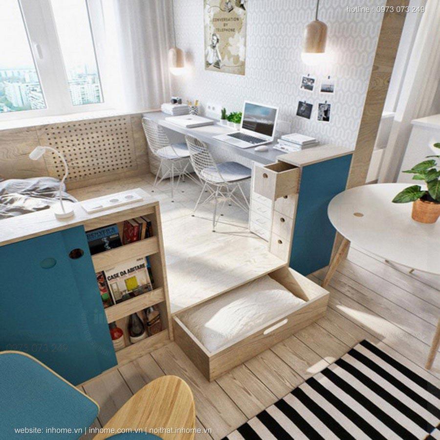 Thiết kế căn hộ 40 m2 đẹp