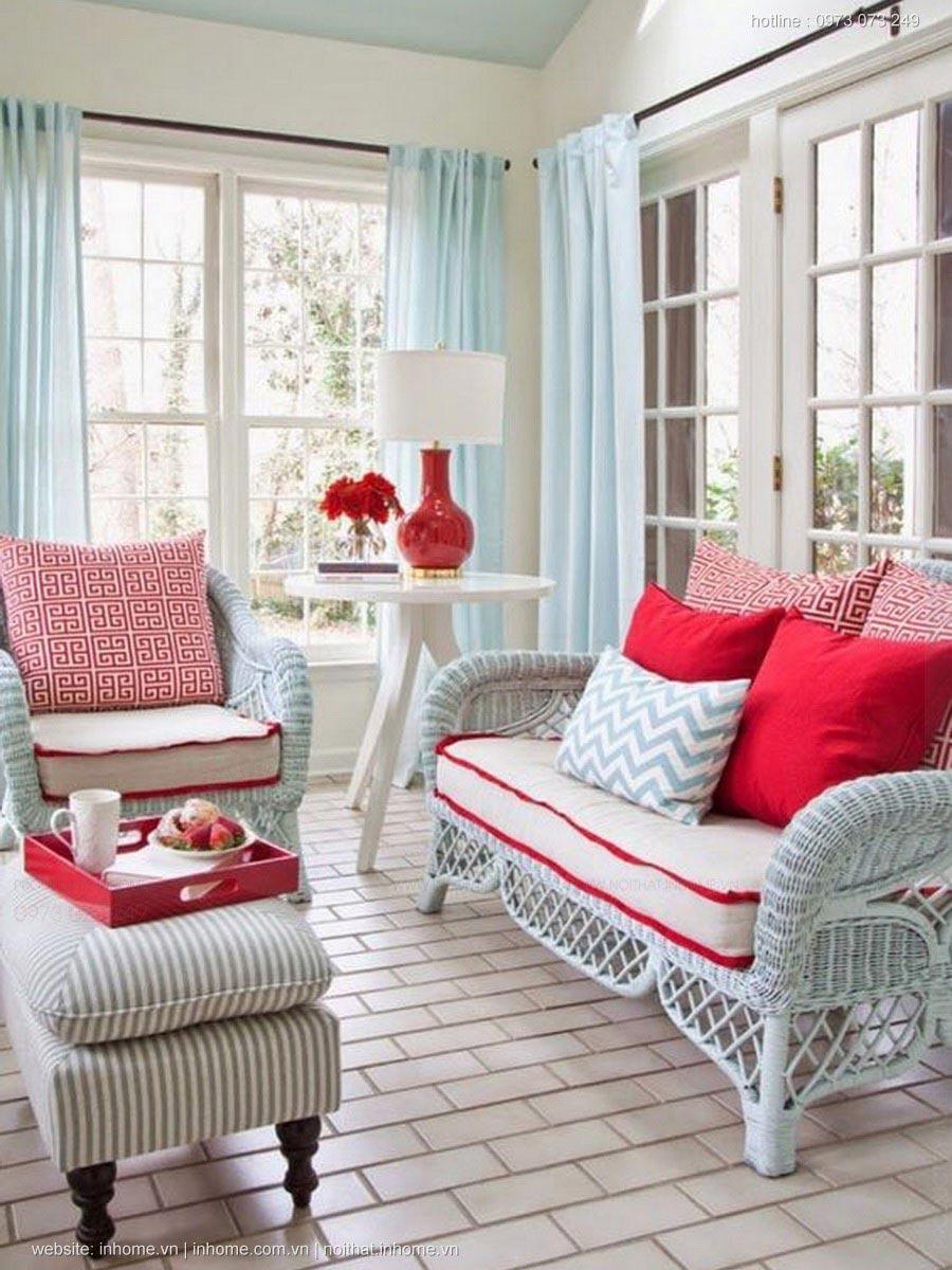Những căn phòng xanh đỏ đẹp mắt