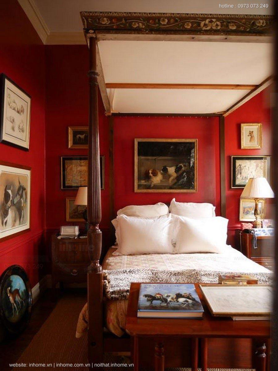 Phòng ngủ màu đỏ