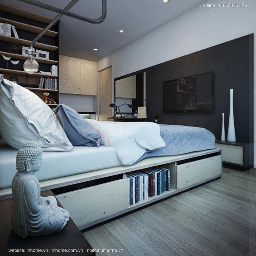 Bố trí căn hộ 38 m2 của một nghệ sĩ