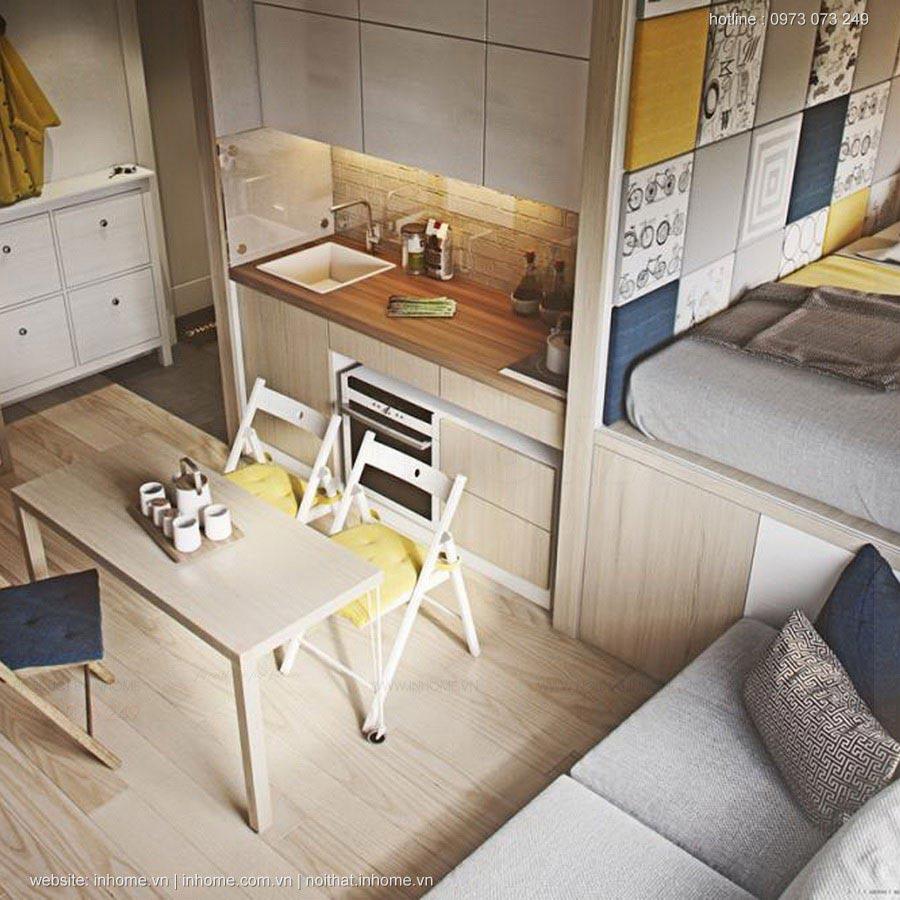 Nhà 20 m2 vẫn đầy đủ tiện nghi