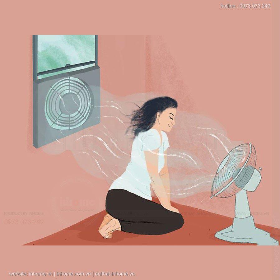 Cách chống nóng cho phòng trọ sinh viên vào mùa hè