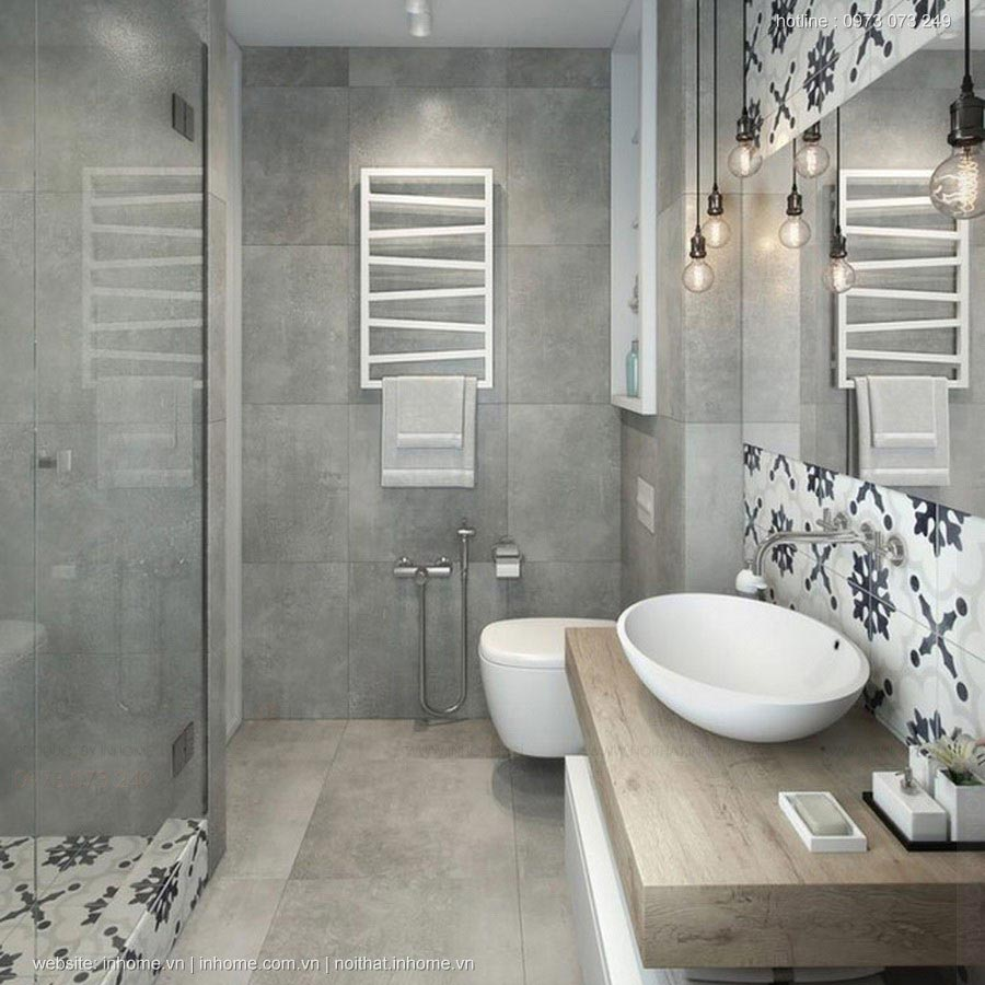 Thiết kế phòng tắm nhỏ 2m2 đẹp lung linh