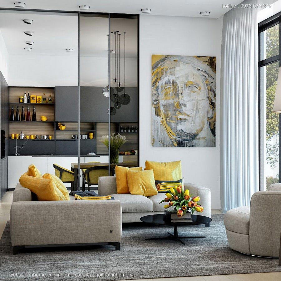 Xu hướng thiết kế nội thất phòng khách năm 2017 mới lạ và cuốn hút