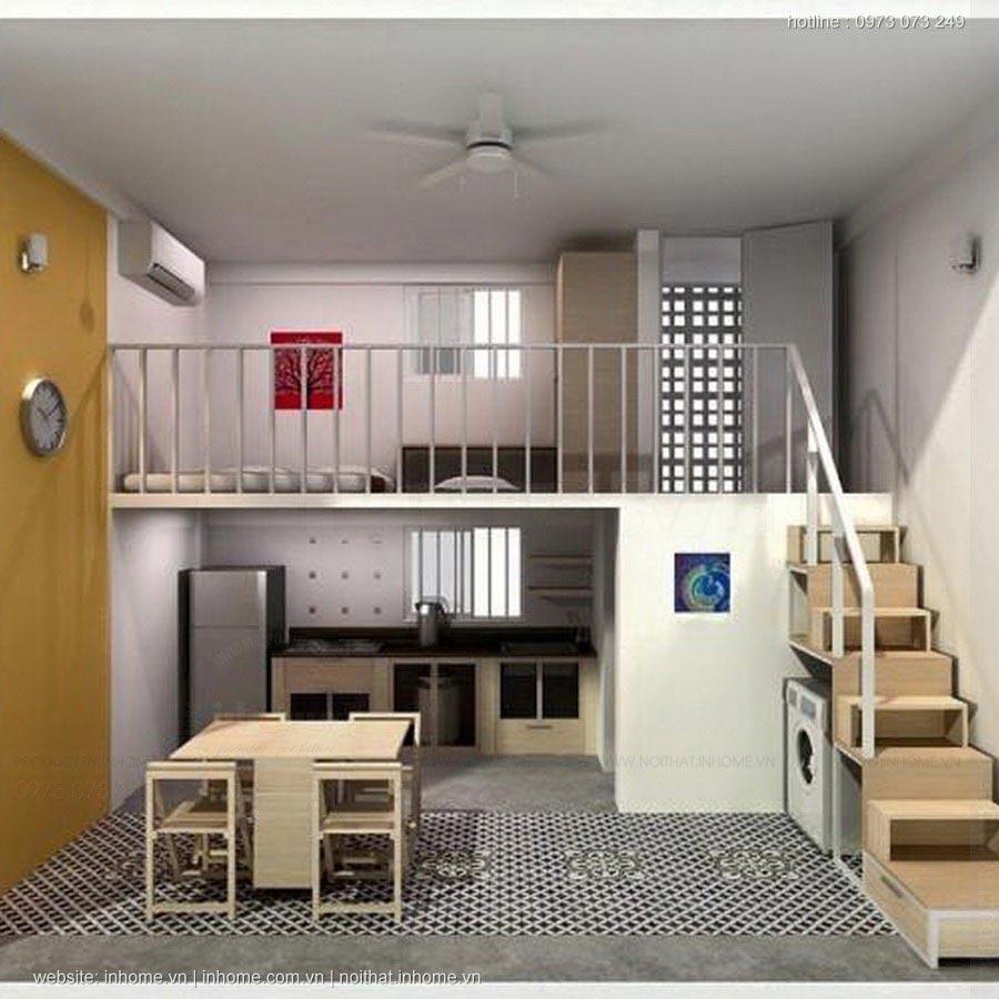 8 Mẫu thiết kế nội thất phòng trọ đẹp cho sinh viên, vợ chồng mới cưới