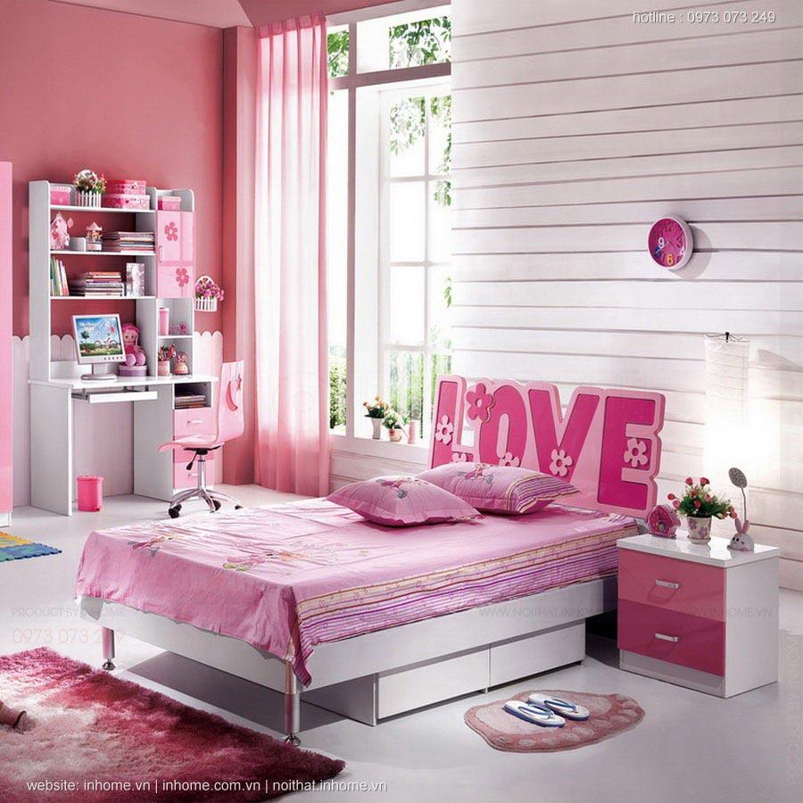 Thiết kế nội thất phòng ngủ đẹp cho bé gái yêu điệu đà