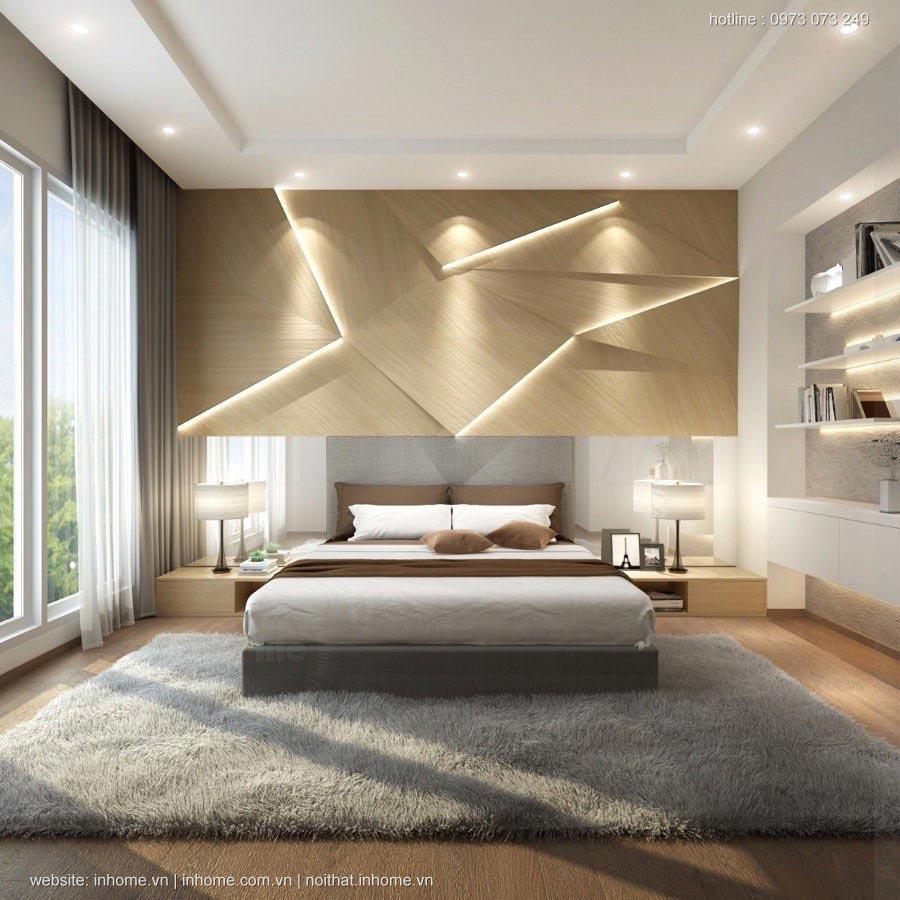 Thiết kế nội thất phòng ngủ chung cư đẹp hiện đại