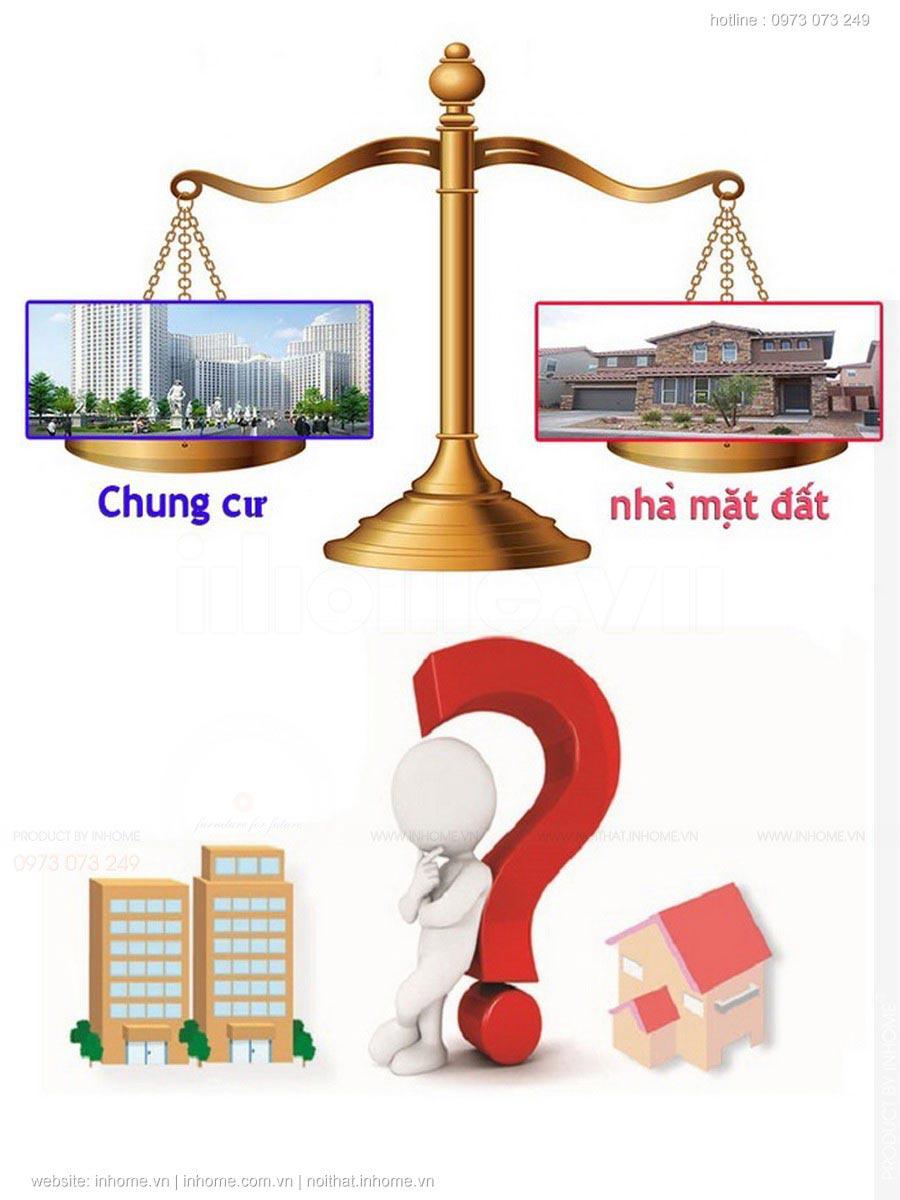 Nên mua chung cư hay nhà đất sẽ tốt hơn?