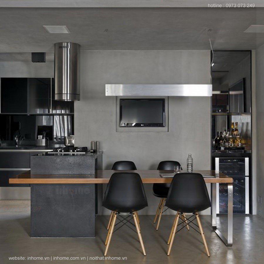 Thiết kế nội thất chung cư 105m2 hiện đại đón đầu xu hướng