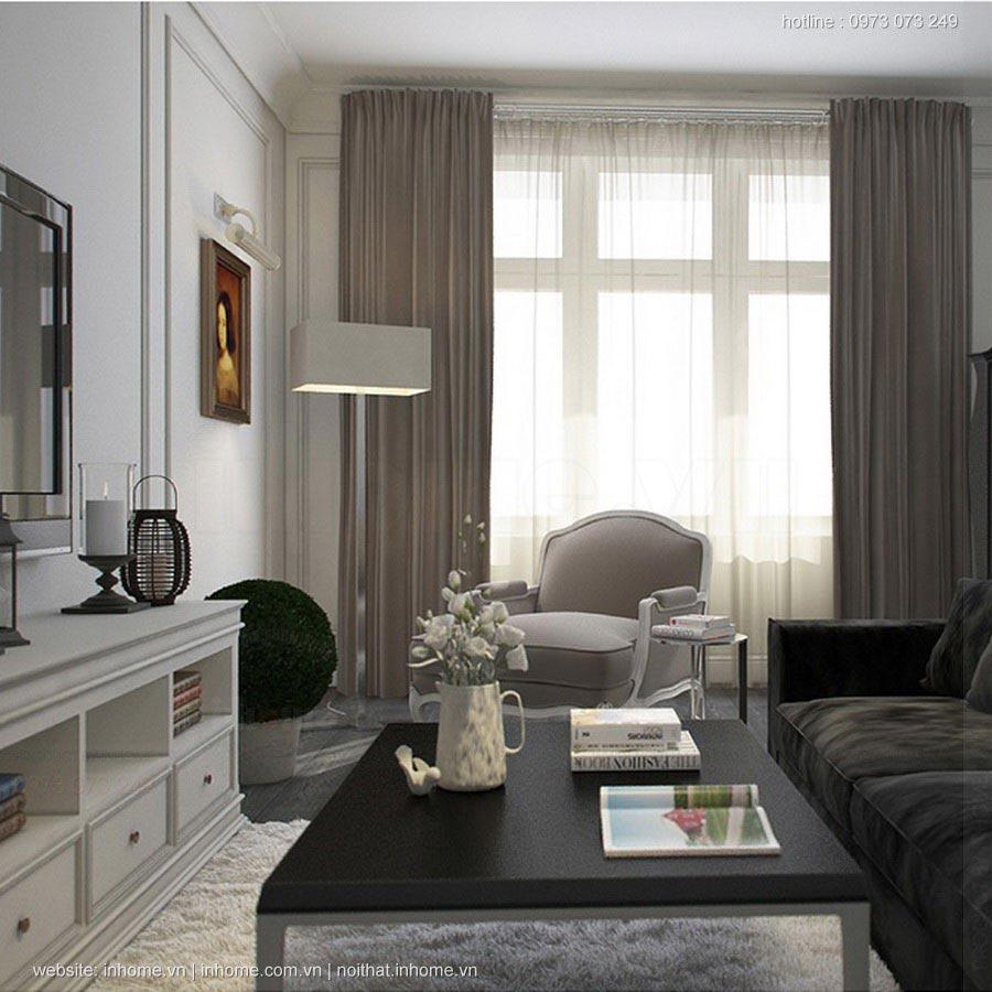 Thiết kế nội thất chung cư 115m2 hiện đại như khách sạn 5 sao