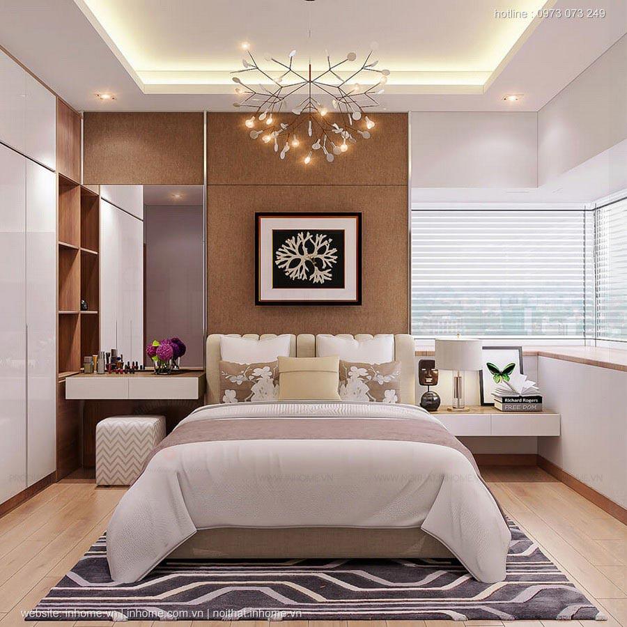 Thiết kế nội thất chung cư 85m2 3 phòng ngủ đẹp độc đáo