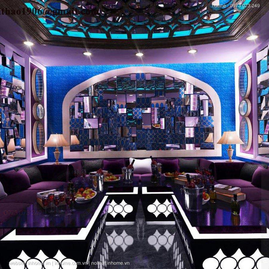 Thiết kế nội thất phòng karaoke gia đình vip đẹp hiện đại