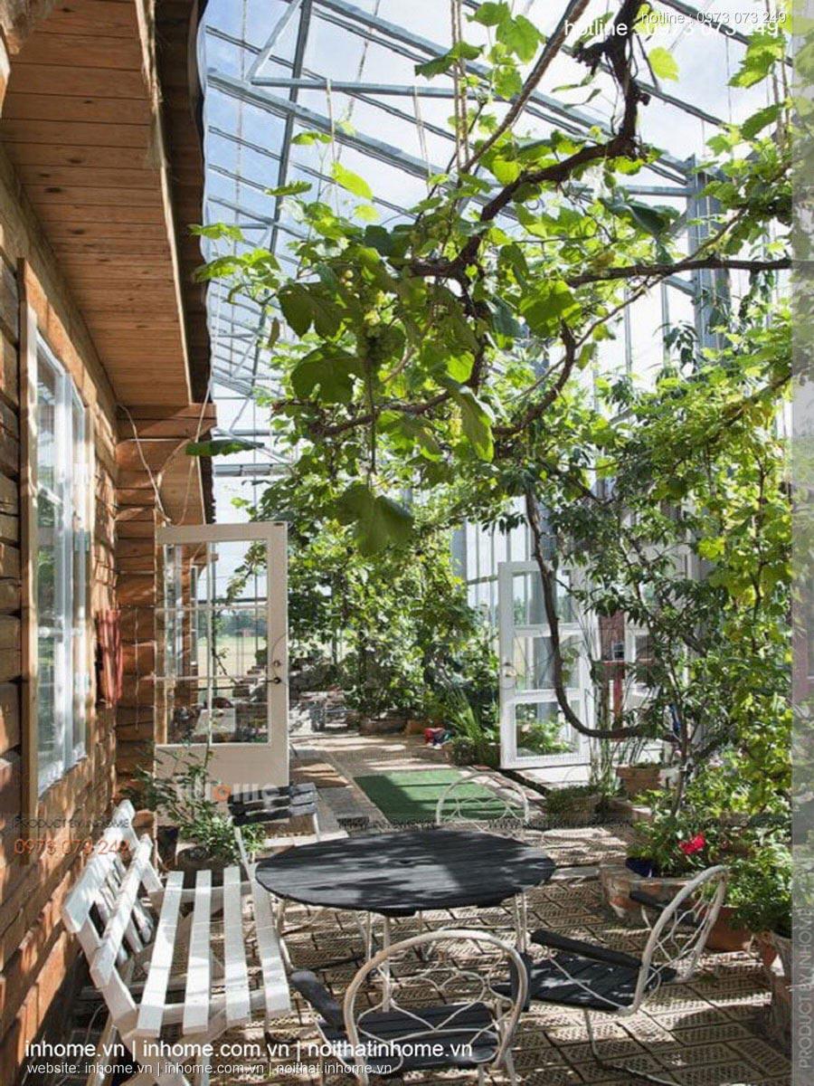 Thiết kế quán cafe sân vườn đơn giản đẹp mắt