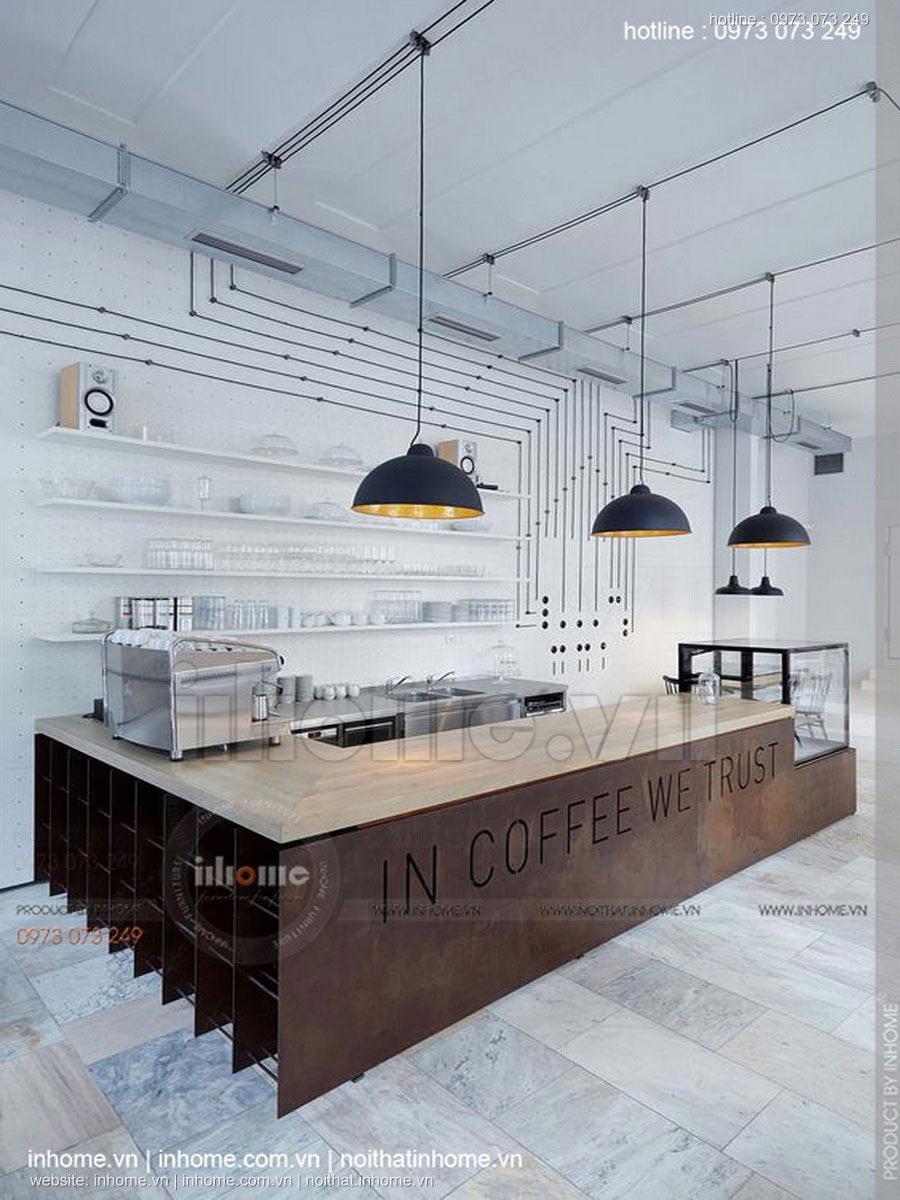 Thiết kế nội thất quán cafe đẹp đơn giản