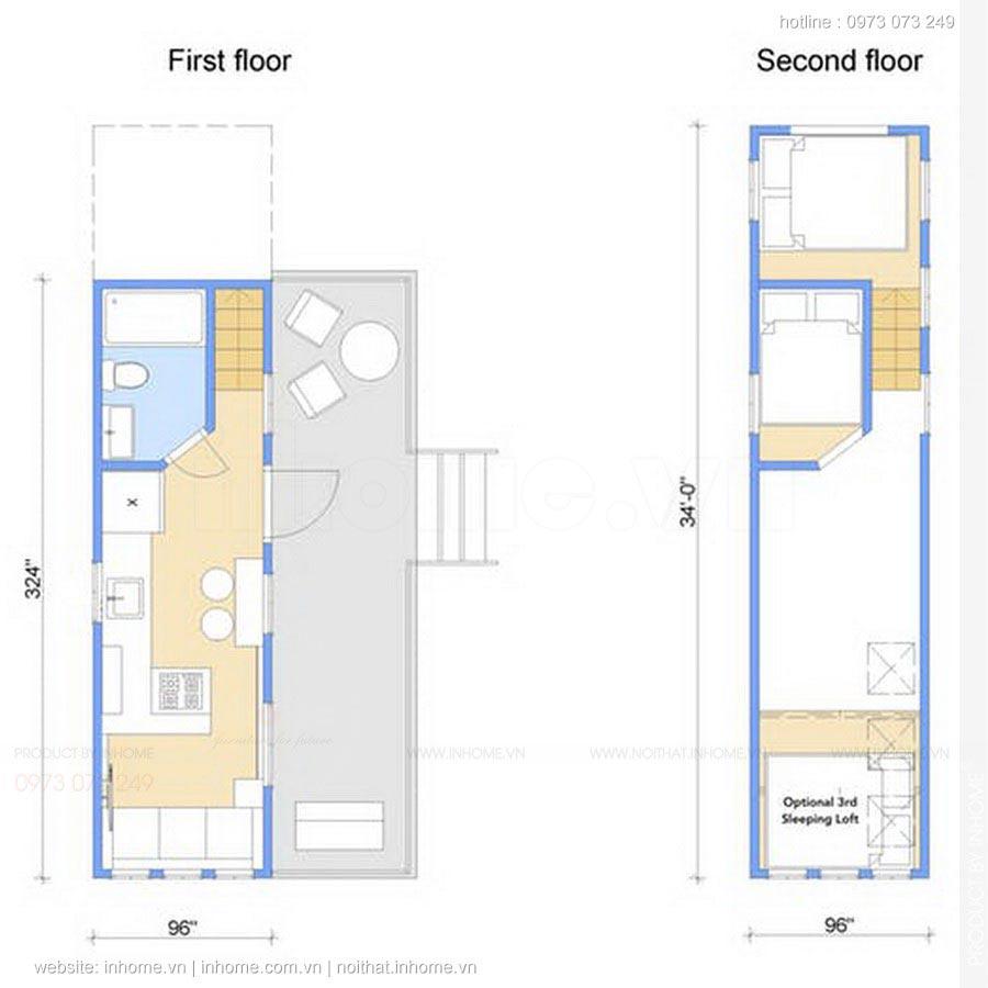 Căn hộ thiết kế nội thất cho chặt chẽ