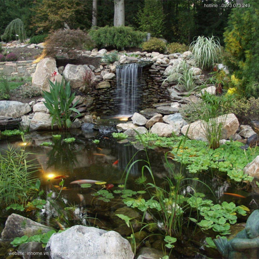 Thiết kế hồ cá sân vườn đẹp mỹ mãn và hợp phong thủy