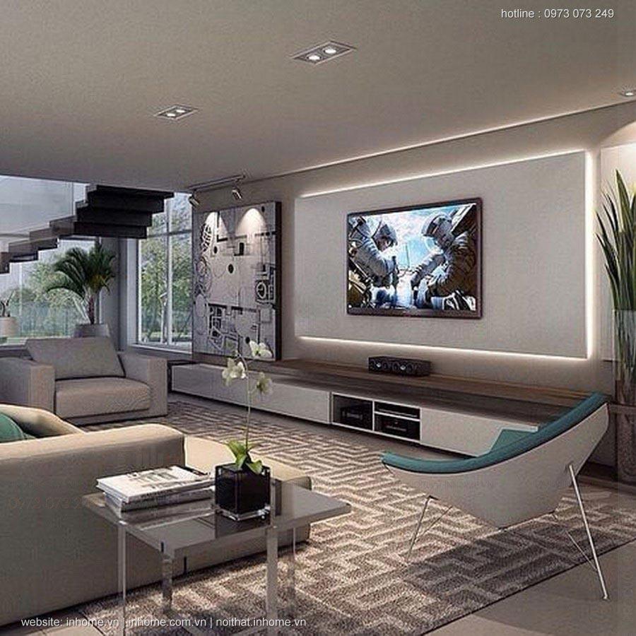 Thiết kế nội thất phòng khách đẹp hiện đại