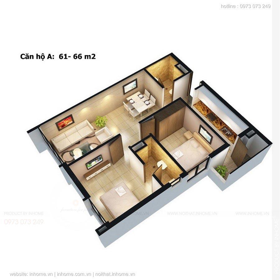 Thiết kế nội thất chung cư Gamuda Gardens