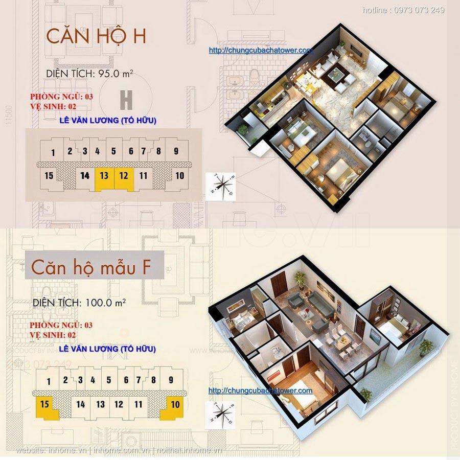 Thiết kế nội thất chung cư Bắc Hà Tower