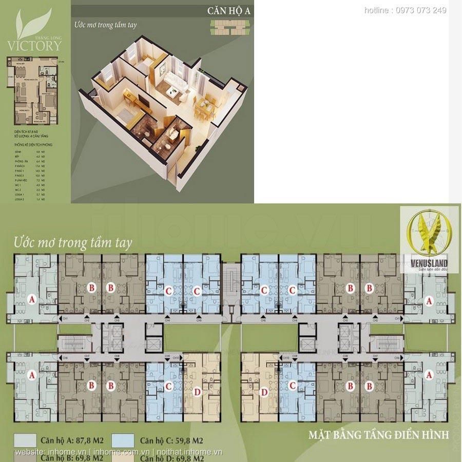Thiết kế nội thất chung cư Thăng Long Victory