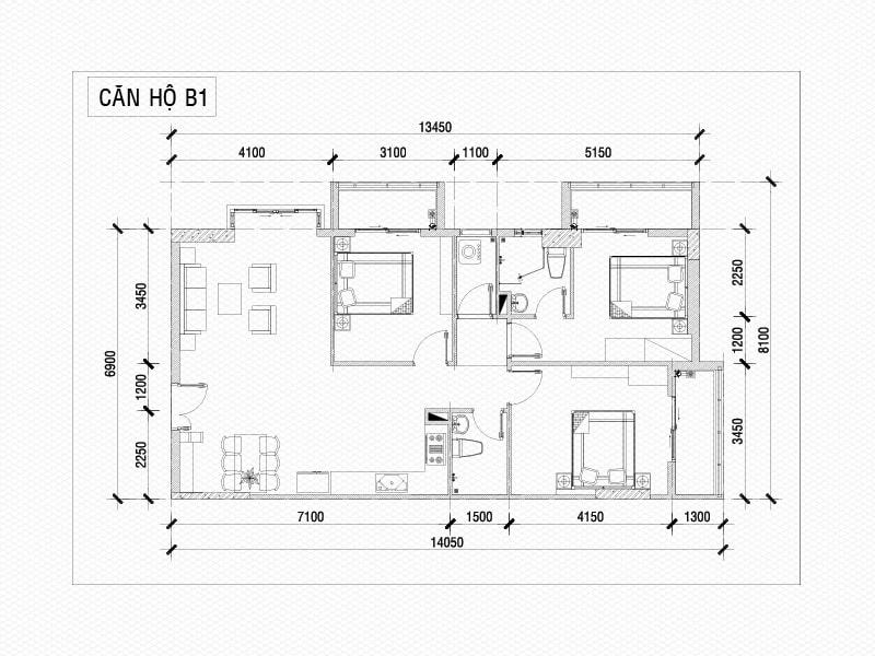 Bản vẽ thiết kế chung cư giúp người xem hình dung rõ ràng về phương án thiết kế