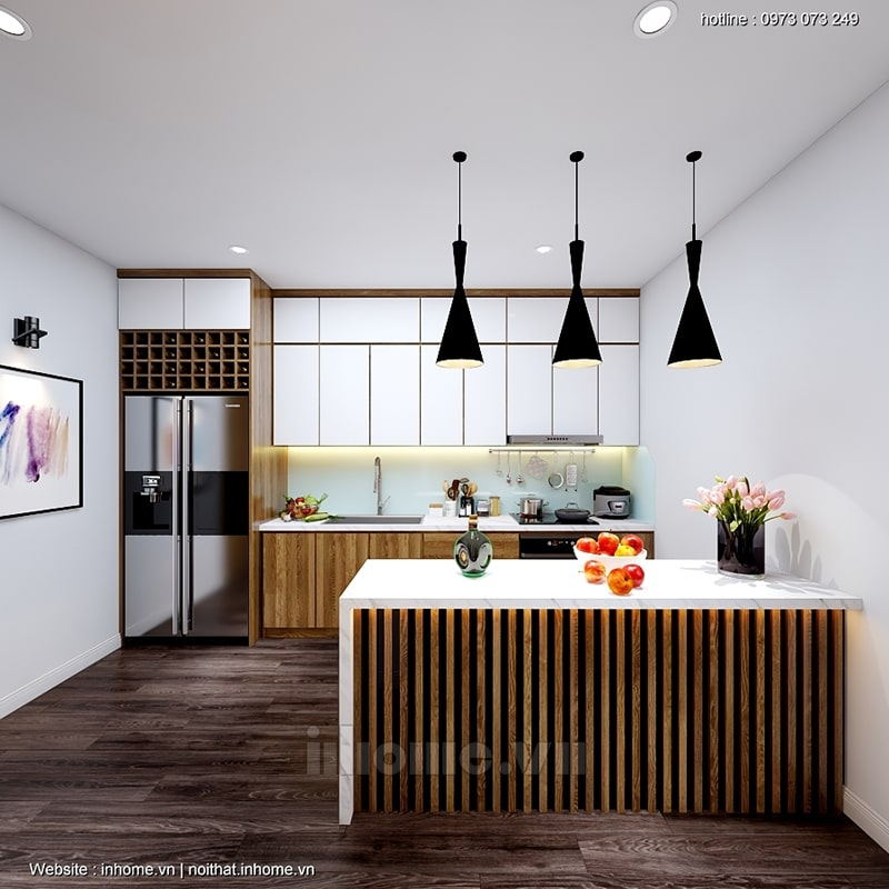 Phòng bếp tiện nghi, hiện đại