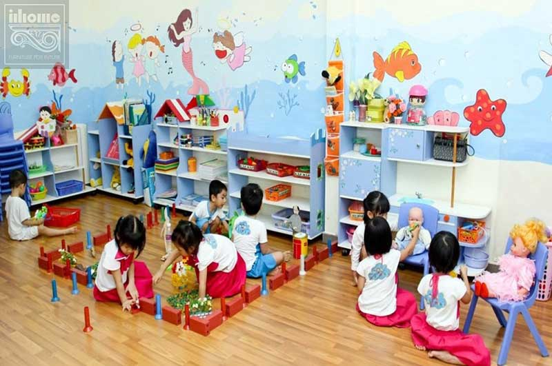 Phòng học thực tế tại trường mầm non