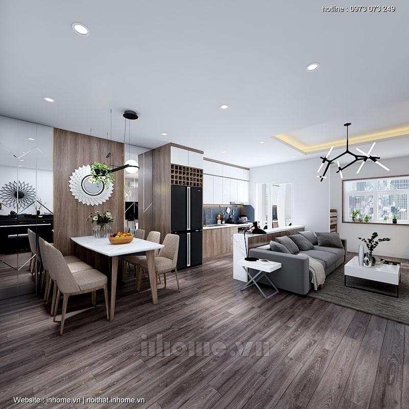 Cải tạo phòng khách chung cư