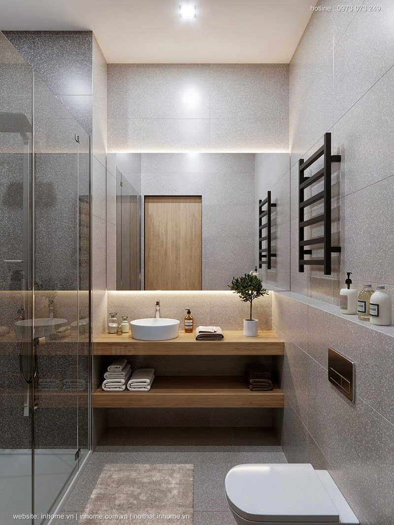 Thiết kế phòng tắm của căn hộ Hà Đông