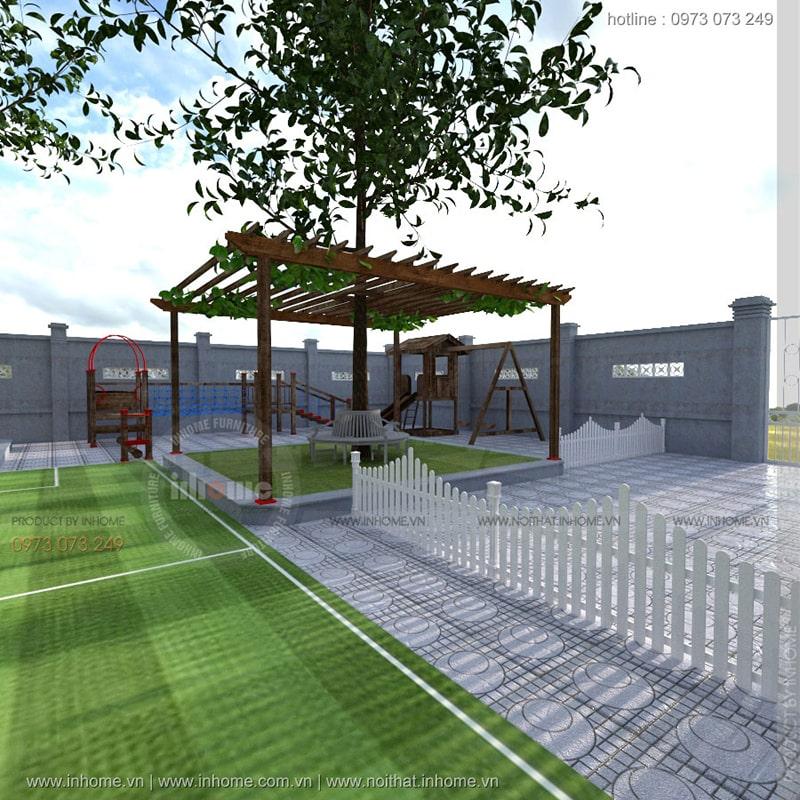 Thiết kế sân vườn trường của Inhome