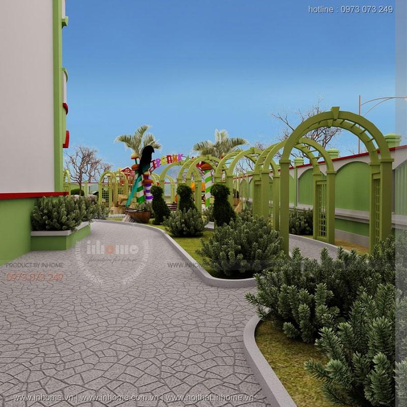 Thiết kế sân vườn trường mầm non Ánh Dương