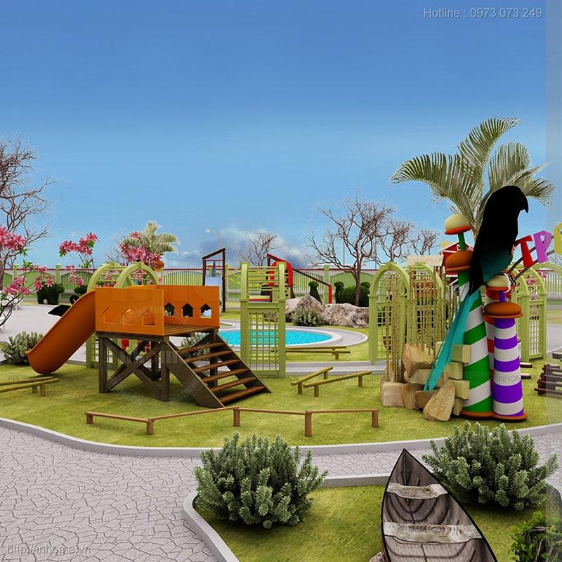 Thiết kế sân vườn trường mầm non Ánh Dương đạt chuẩn