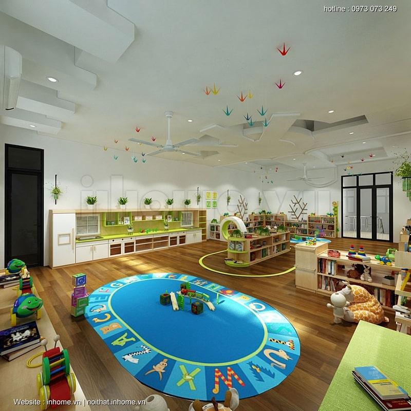 Thiết kế khu vui chơi trong lớp học