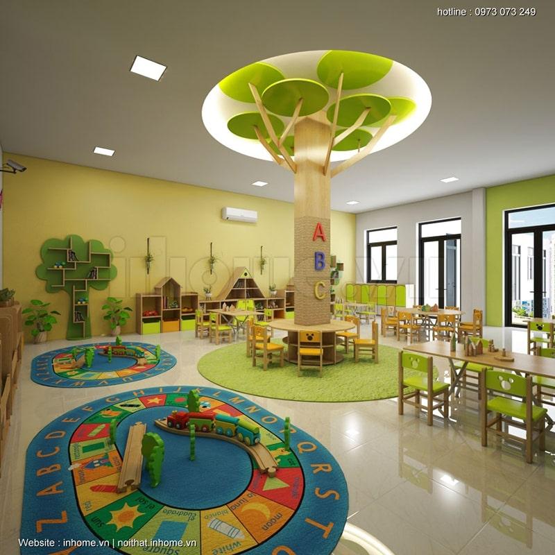 Thiết kế lớp học đầy màu sắc kích thích sự sáng tạo của trẻ